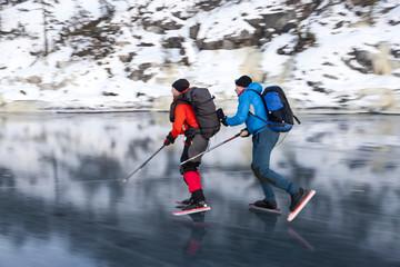 Men long-distance skating
