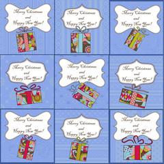 Big set of mini christmas cards