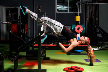 Young woman in a gym