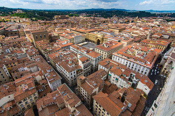 Aerial Shot of Florence, Italy