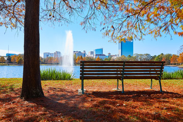 Wall Mural - Houston Hermann park Mcgovern lake