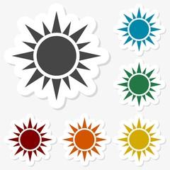 Multicolored paper stickers - Sun