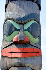 """Totem pole in Duncan's tourism slogan is """"The City of Totems"""". The city has 80 totem poles around the entire town, which were erected in the late 1980s."""