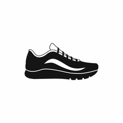 Sport shoes icon, simple style