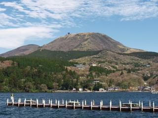 Lake Ashi and Mt. Komagatake