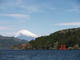 Mt. Fuji over Lake Ashi
