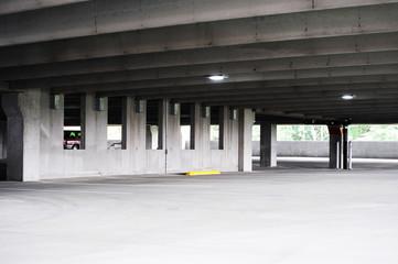empty parking lot interior