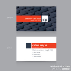 modern dark grey business card name card template