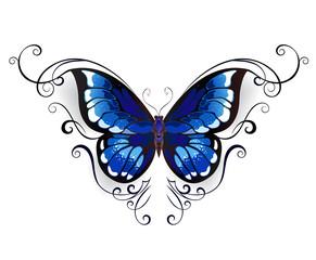tattoo blue butterfly
