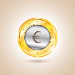 Money - euro coins. Vector illustration