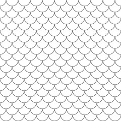 fish scales simple seamless pattern