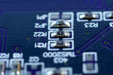 Close up electronic board