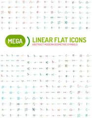 Thin line abstract logo mega collection