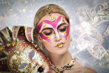 Venetian golden mask