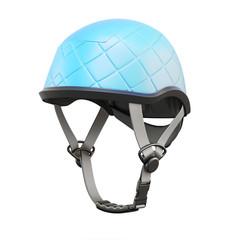 Climbing helmet on white background. 3d rendering.