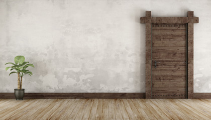 Living room in rustic style without furniture Wall mural