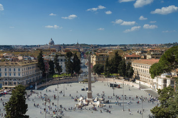 Lookout above Piazza del Popolo