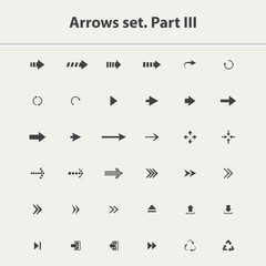 Arrow icon set vector isolated on a white background.Black arrow icons  collection