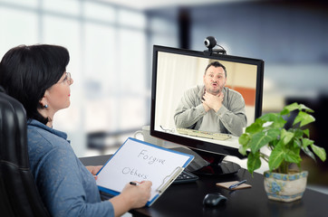 Online psychotherapy session works for man