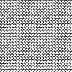 Seamless Pattern of Garter Stitch.