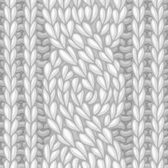 Seamless six-stitch cable stitch.