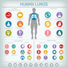 Lungs function and health.