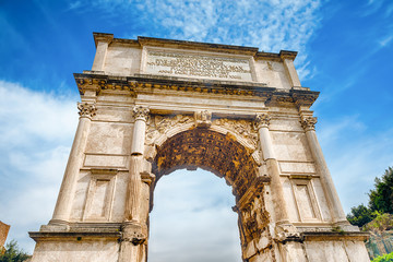 Fotomurales - The iconic Arch of Titus in the Roman Forum, Rome
