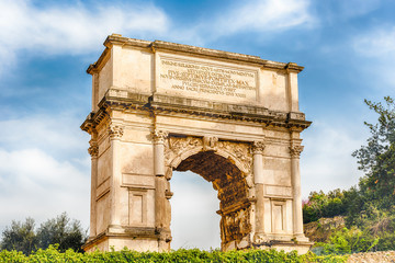 Wall Mural - The iconic Arch of Titus in the Roman Forum, Rome