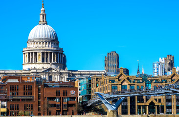 St Paul's Cathedral, the Millennium Bridge and City of London Sc