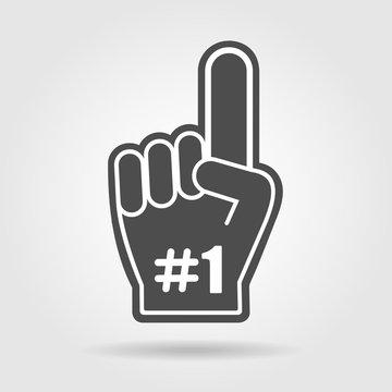Finger up 1 fan icon