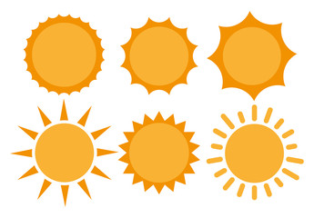 Sun, Sun Icon. Sun Icon Vector. Sun flat icon vector illustration