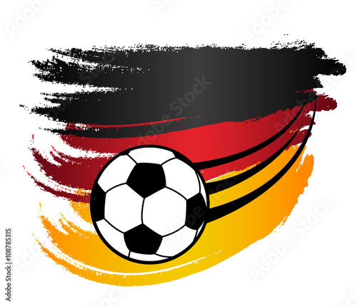 deutschland fahne flagge und fliegender fu ball em wm vektor freigestellt stockfotos und. Black Bedroom Furniture Sets. Home Design Ideas