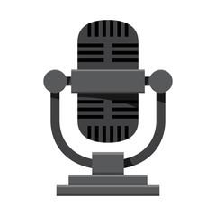World Radio Day. Retro microphone. Vector illustration