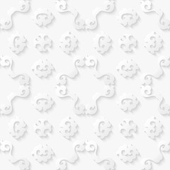 Abstract floral white background