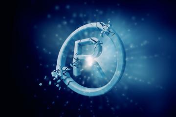 Copyrighting stone symbol