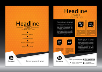 Brochure Flyer template design. Geometric pattern. Vector illustration of geometry graphic design.
