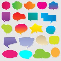 Colorful communication bubbles vector