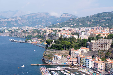 The bay of Sorrento in the summer