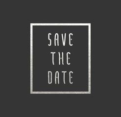 Save the date metallic card
