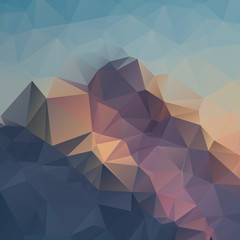 Abstract geometric colorful background. Mountain peaks. Composition with triangles geometric shapes. polygon landscape.