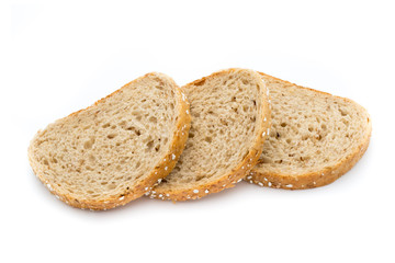 Bread isolated on the white background.