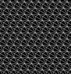 Vector modern seamless geometry pattern hexagon, black and white abstract geometric background, subtle pillow print, monochrome retro texture, hipster fashion design