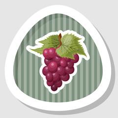 Grapes colorful icon