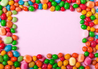 Frame made of sweets
