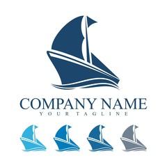 Ship Logo, Traditional Ship Logo Vector