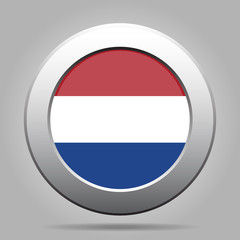 metal button with flag of Netherlands
