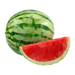 Low Poly Watermelon