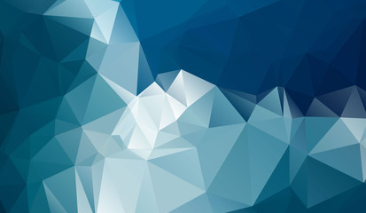 Cold polygonal background