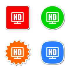 hd colored vector icons set
