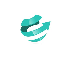 Arrows globe logo